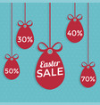 happy easter sale flat style vector image vector image
