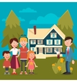 Happy Family Buying a New House vector image vector image