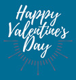 happy valentines day label font with brush vector image vector image
