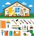 Home repair landscape vector image