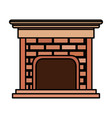 house chimney inside icon vector image
