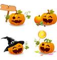 Jack O Lantern icons vector image vector image