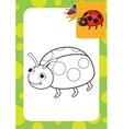 Ladybug toy vector image vector image