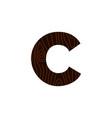 logo letter c wood texture vector image