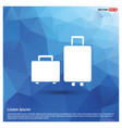 luggage bags icon vector image