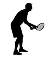 man tennis player silhouette isolated vector image