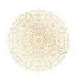 Mandala ornament Vintage decorative elements vector image vector image