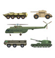 military transport vehicle technic army war vector image