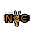 new york t-shirt printing design nyc emblem vector image vector image