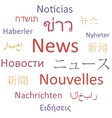 News languages vector image