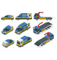 online roadside assistance set tow truck for vector image vector image