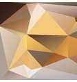 Orange and beige abstract polygonal background vector image