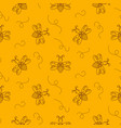 outline bee insect seamless pattern vector image