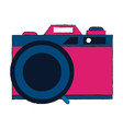 photographic camera vintage pop art colors vector image vector image