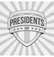 Presidents Day Shield on striped grunge Background vector image vector image