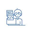 programming line icon concept programming flat vector image vector image