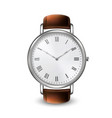 realistic silver classic vintage unisex wrist vector image vector image