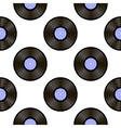 Retro Vynils Sound Disc Seamless Pattern vector image