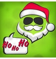 Santa Claus hipster style vector image vector image