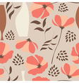 seamless pattern floral elements spring flowers vector image vector image