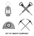 set from mine tools vector image vector image
