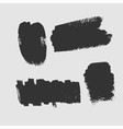 set grunge textured brush strokes on a white vector image vector image