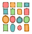 Set of hand drawn frames Decorative elements vector image vector image