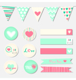 Set of Romantic and Cute Stickers vector image vector image