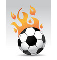 soccer ball burning vector image vector image