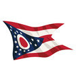 state ohio flag waving vector image vector image