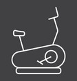 stationary bicycle line icon fitness and sport vector image vector image