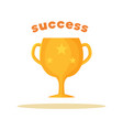 success pattern of bright cup vector image vector image