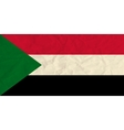 Sudan paper flag vector image vector image