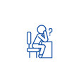 thinking person with question line icon concept vector image vector image