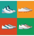 Various sport shoes icons set vector image vector image