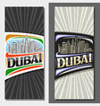vertical layouts for dubai vector image vector image