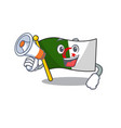 with megaphone flag algeria cartoon isolated the vector image vector image