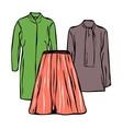 Woman clothes vector image vector image