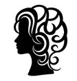 woman face with modern hair vector image vector image