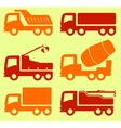yellow and red industrial transport set vector image
