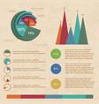 beige infographic set vector image