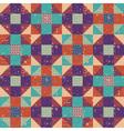 seamless geometric background retro vector image