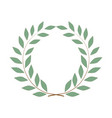 laurel wreath olive reward on white background vector image