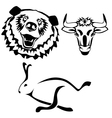 Characters hare bull bear vector image