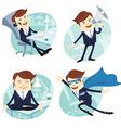 Office man set vector image