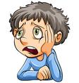 A sad boy vector image vector image