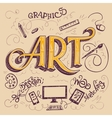 Art hand-lettering typography card vector image vector image