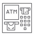 atm thin line icon finance and cash banking vector image