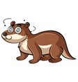 beaver with dizzy face vector image
