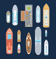 boats - set of modern elements vector image